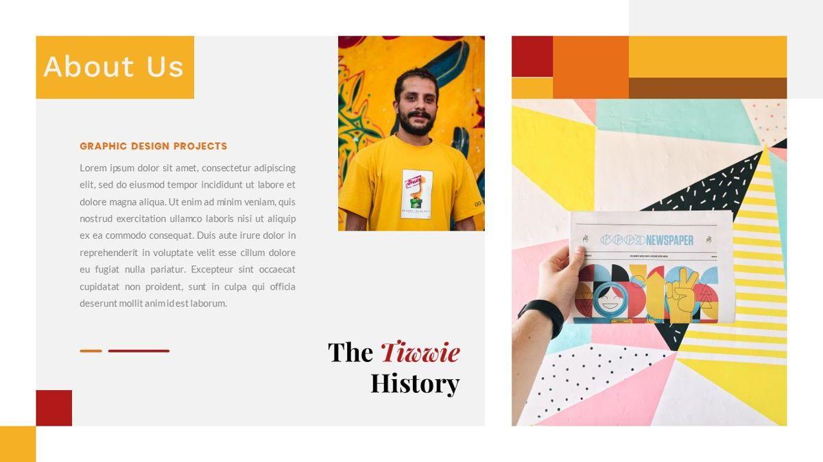 Tiwwie – Creative Business Pop Art PowerPoint Template, Slide 3, 06853, Presentation Templates — PoweredTemplate.com