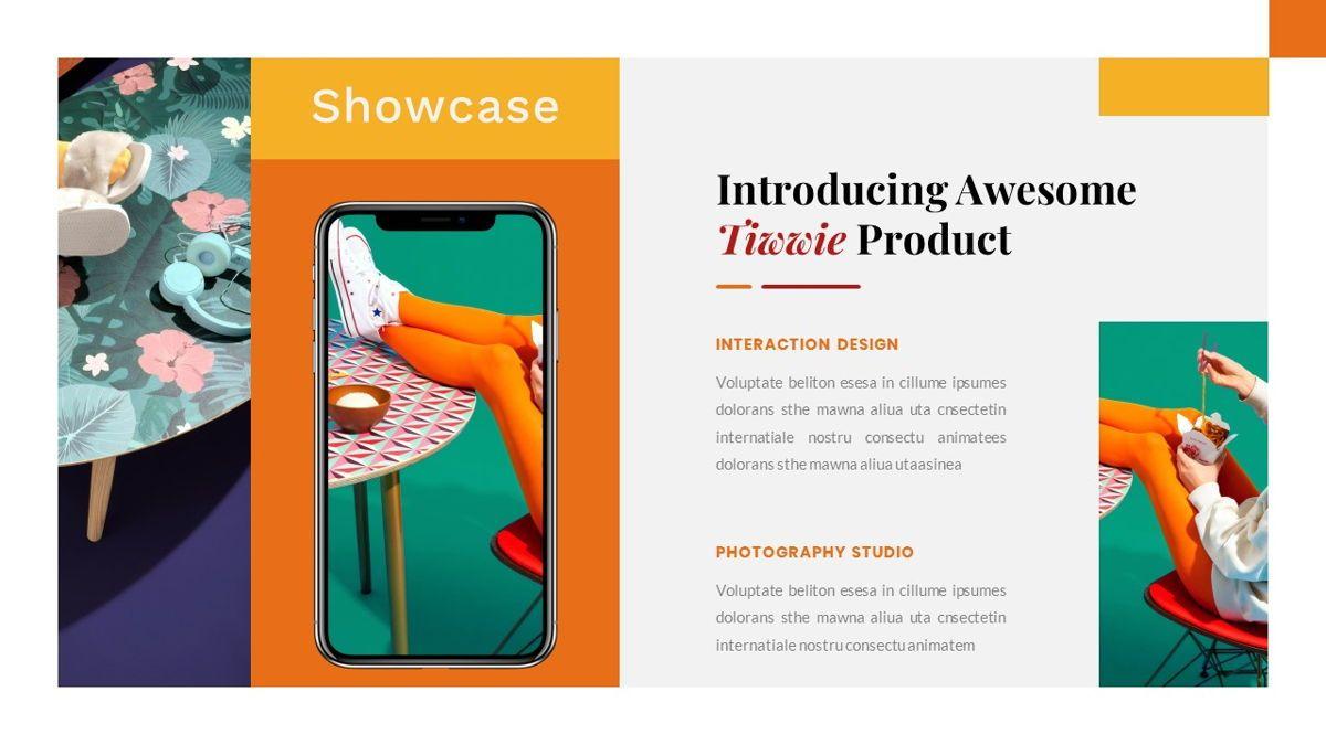 Tiwwie – Creative Business Pop Art PowerPoint Template, Slide 30, 06853, Presentation Templates — PoweredTemplate.com