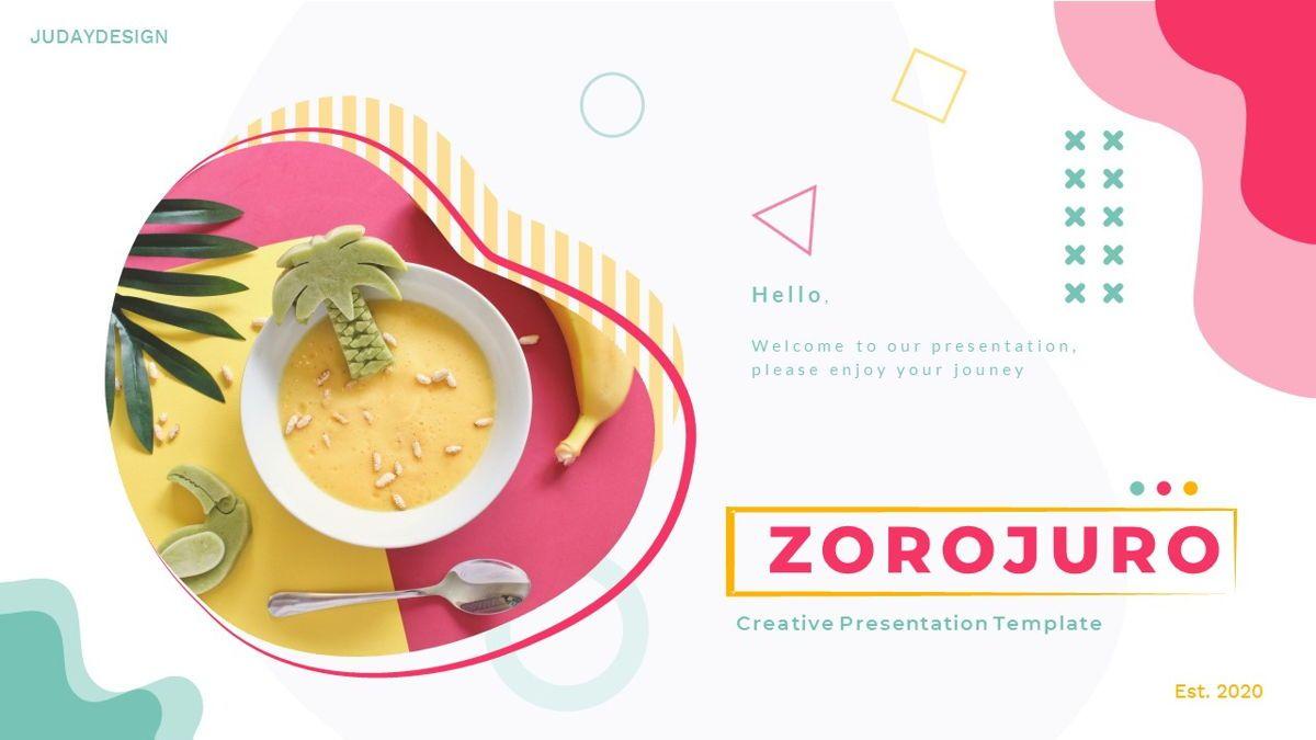 Zorojuro – Creative Business Pop Art Keynote Template, 06856, Presentation Templates — PoweredTemplate.com