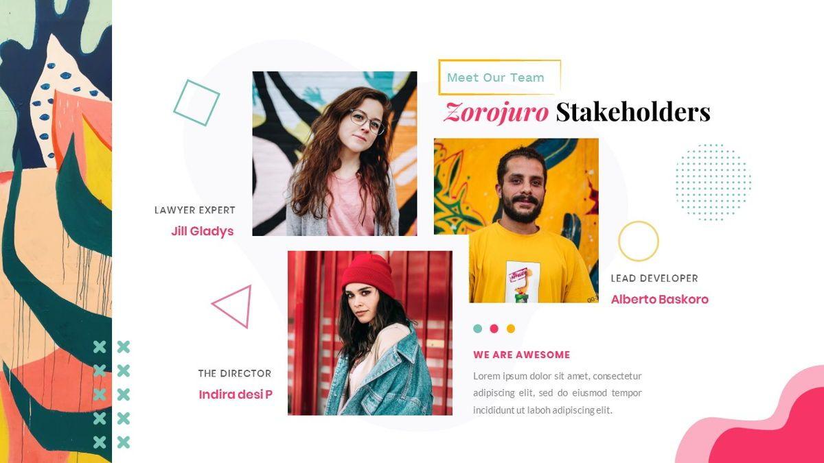 Zorojuro – Creative Business Pop Art Keynote Template, Slide 12, 06856, Presentation Templates — PoweredTemplate.com