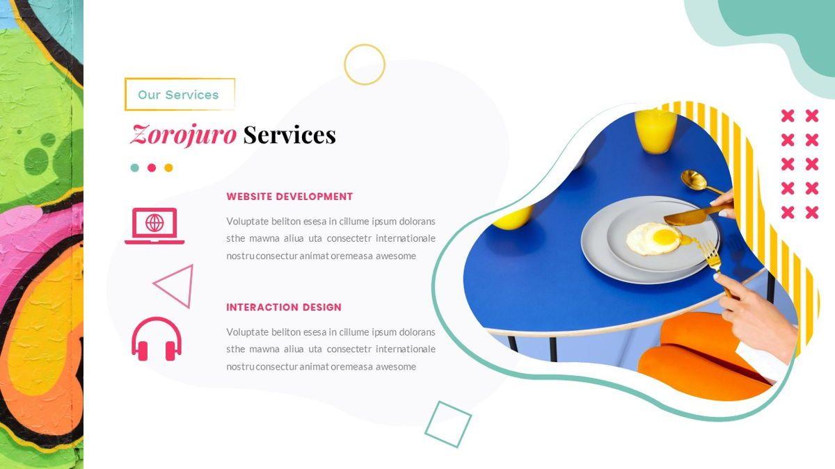 Zorojuro – Creative Business Pop Art Keynote Template, Slide 15, 06856, Presentation Templates — PoweredTemplate.com
