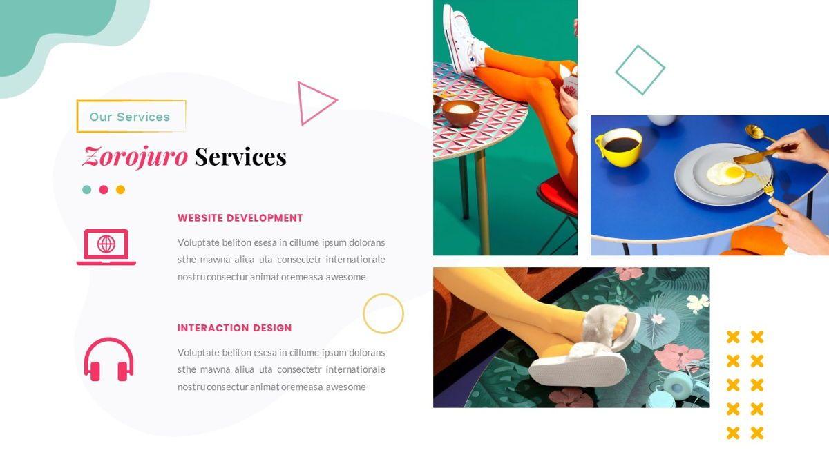 Zorojuro – Creative Business Pop Art Keynote Template, Slide 16, 06856, Presentation Templates — PoweredTemplate.com