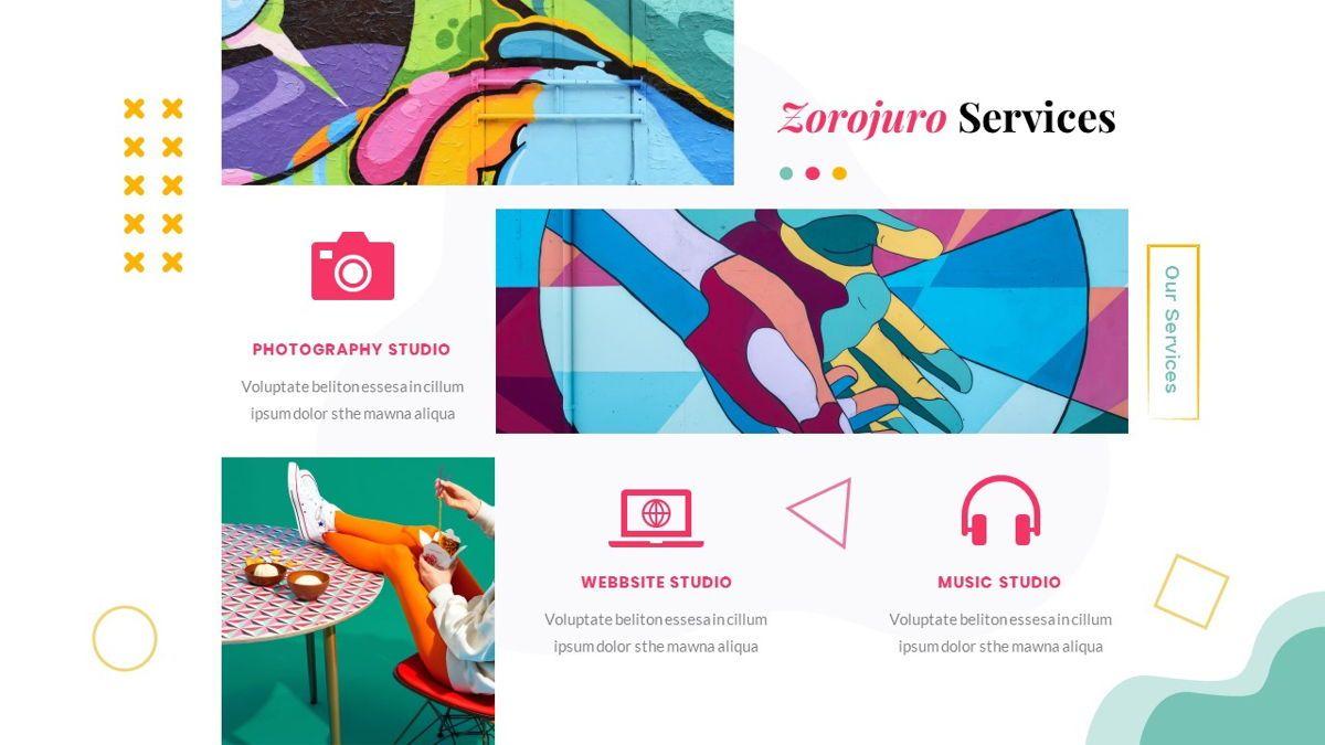 Zorojuro – Creative Business Pop Art Keynote Template, Slide 18, 06856, Presentation Templates — PoweredTemplate.com