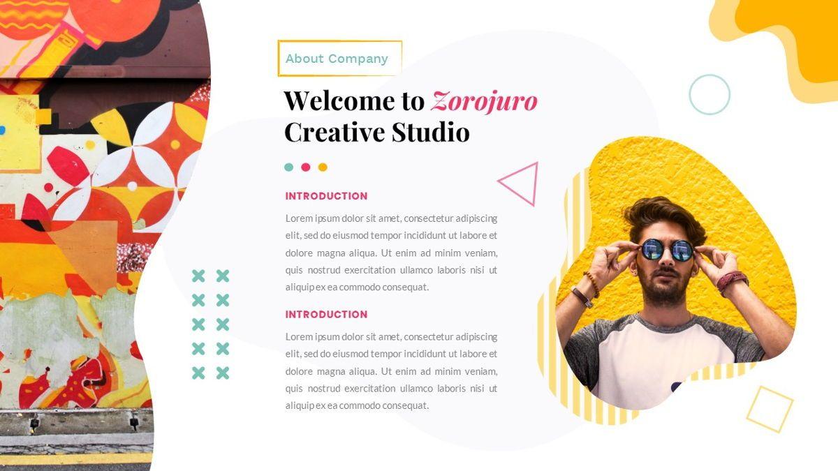 Zorojuro – Creative Business Pop Art Keynote Template, Slide 2, 06856, Presentation Templates — PoweredTemplate.com