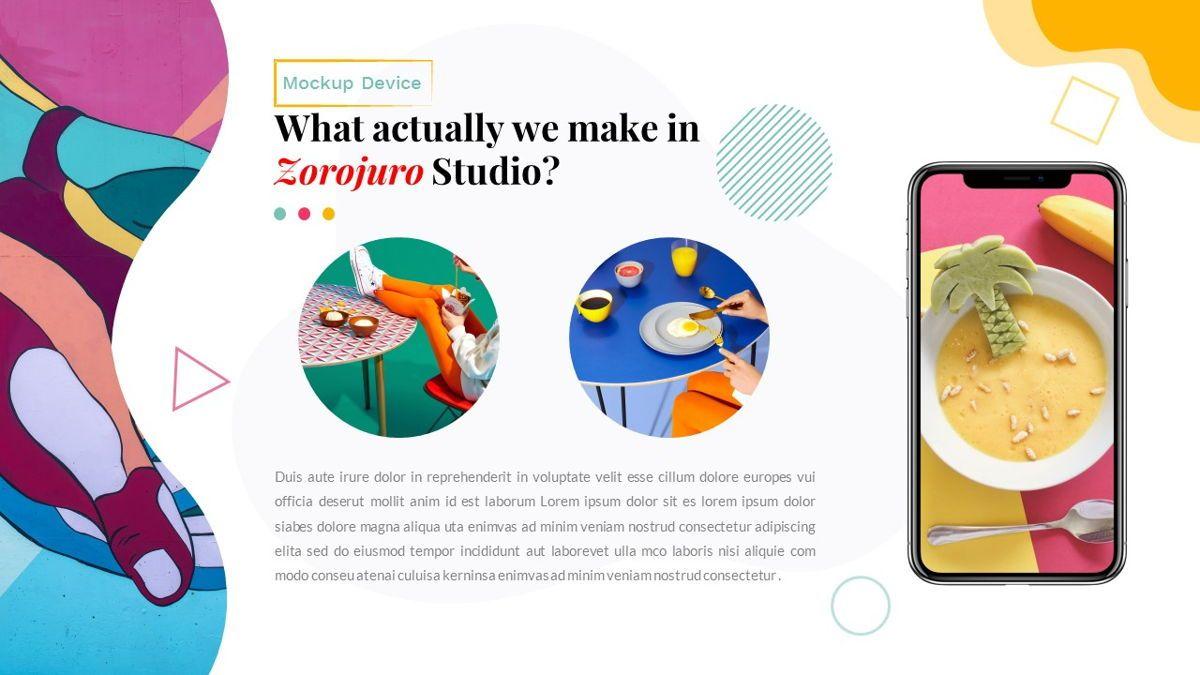 Zorojuro – Creative Business Pop Art Keynote Template, Slide 28, 06856, Presentation Templates — PoweredTemplate.com