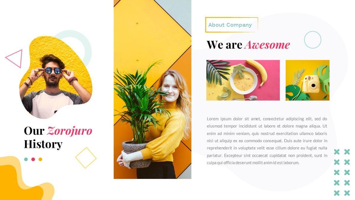 Zorojuro – Creative Business Pop Art Keynote Template, Slide 3, 06856, Presentation Templates — PoweredTemplate.com