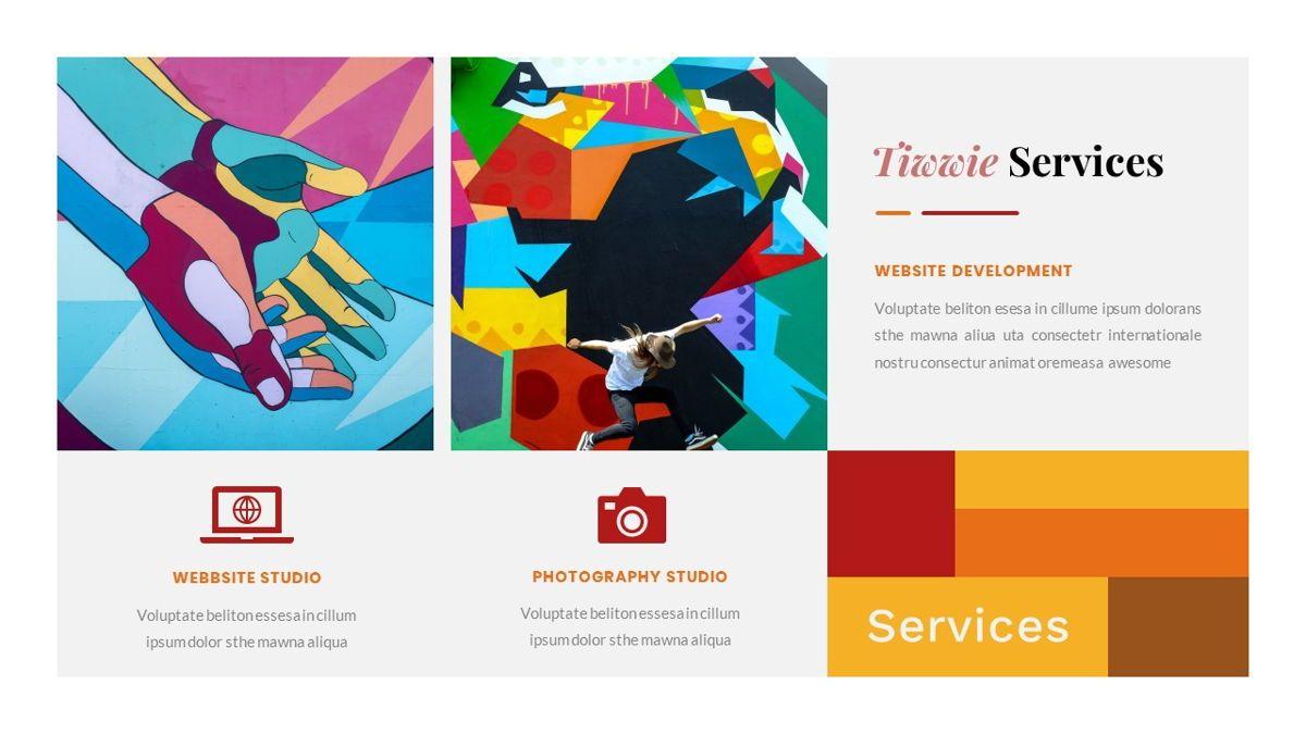 Tiwwie – Creative Business Pop Art Google Slides Template, Slide 17, 06857, Presentation Templates — PoweredTemplate.com