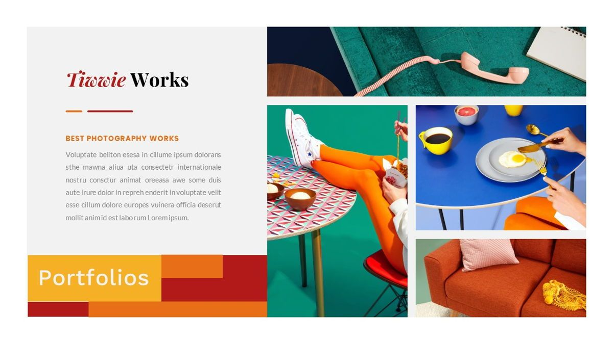 Tiwwie – Creative Business Pop Art Google Slides Template, Slide 26, 06857, Presentation Templates — PoweredTemplate.com