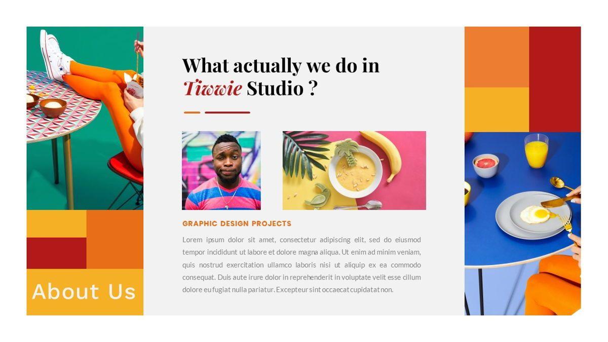 Tiwwie – Creative Business Pop Art Google Slides Template, Slide 5, 06857, Presentation Templates — PoweredTemplate.com