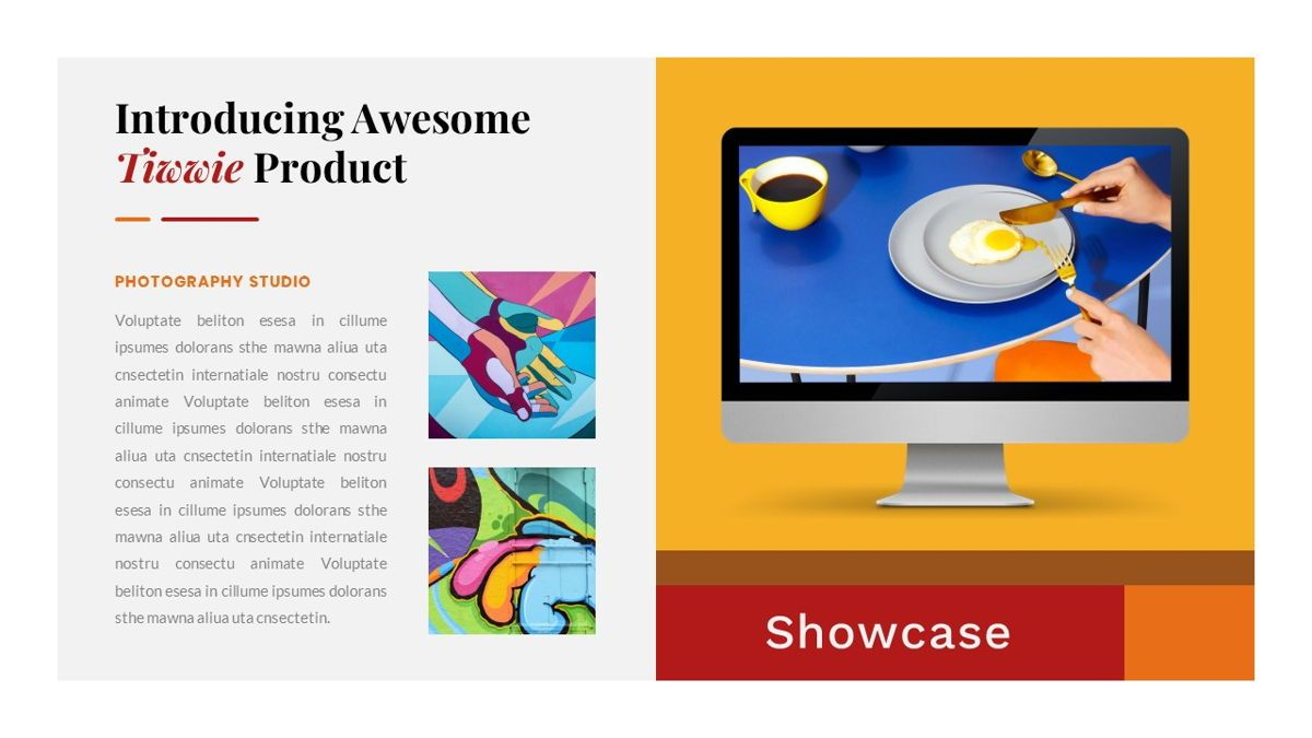 Tiwwie – Creative Business Pop Art Keynote Template, Slide 31, 06859, Presentation Templates — PoweredTemplate.com