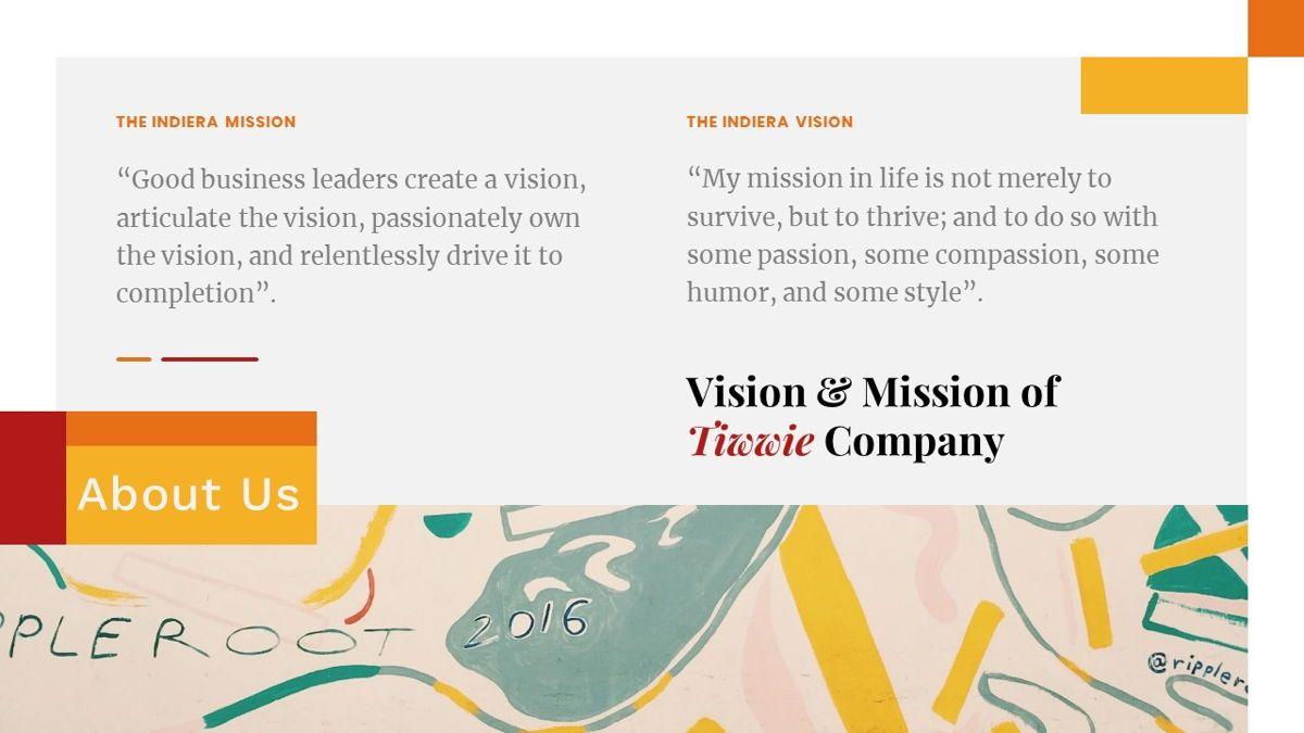 Tiwwie – Creative Business Pop Art Keynote Template, Slide 4, 06859, Presentation Templates — PoweredTemplate.com