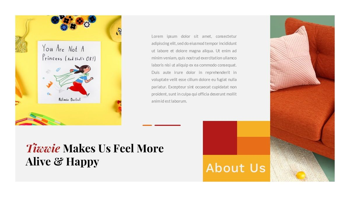 Tiwwie – Creative Business Pop Art Keynote Template, Slide 6, 06859, Presentation Templates — PoweredTemplate.com