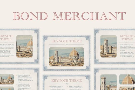Education Charts and Diagrams: Bond Merchant Keynote Template #06860