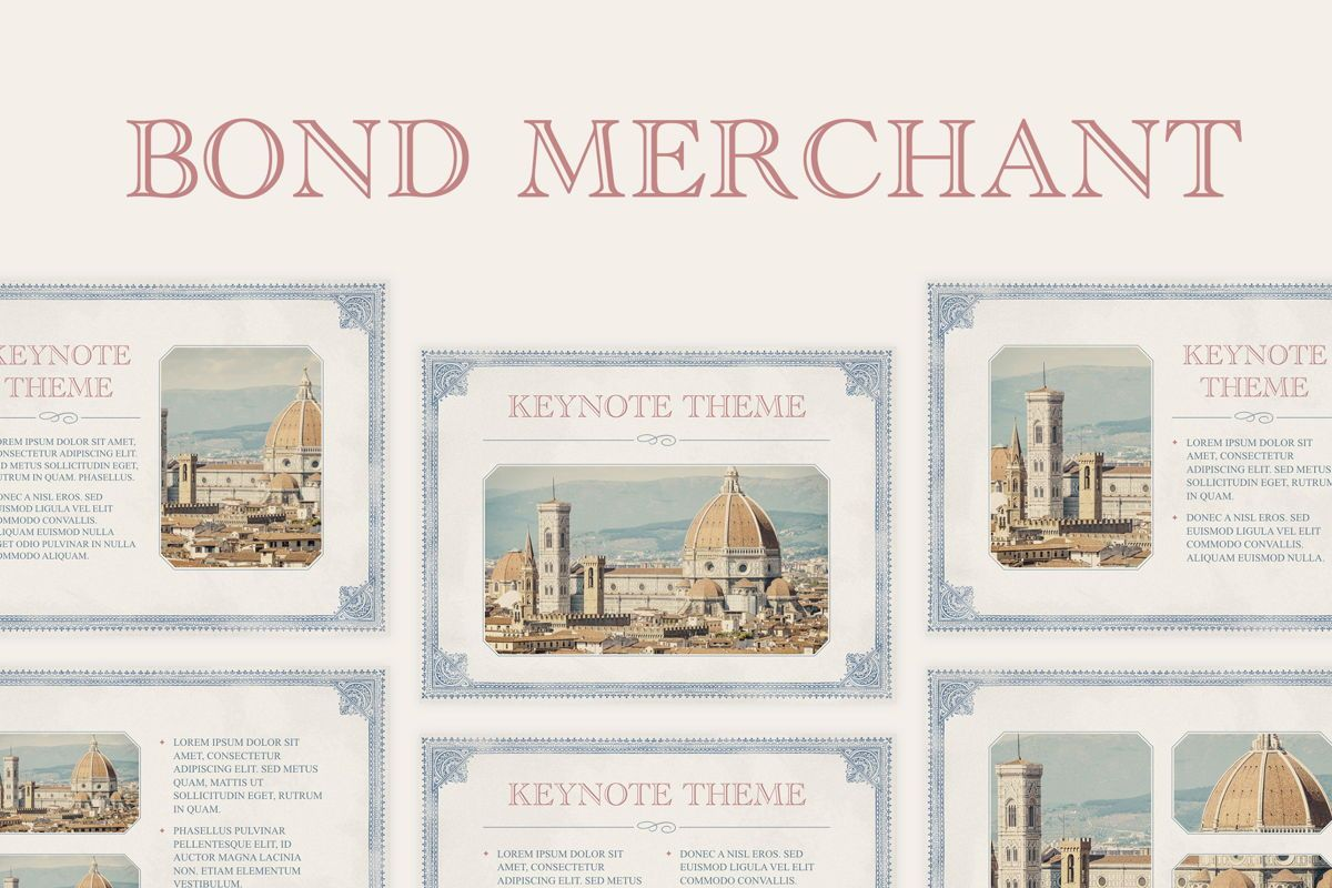 Bond Merchant Keynote Template, 06860, Education Charts and Diagrams — PoweredTemplate.com