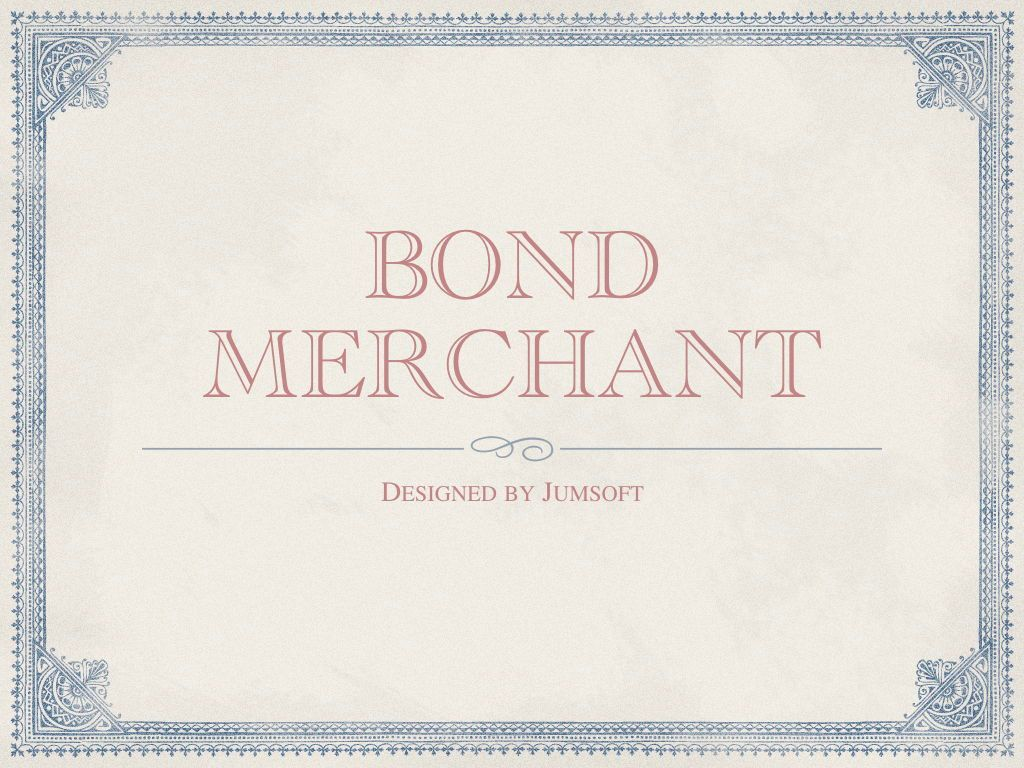 Bond Merchant Keynote Template, Slide 3, 06860, Education Charts and Diagrams — PoweredTemplate.com