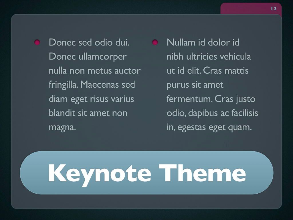 Button Folder Keynote Template, Slide 13, 06861, Presentation Templates — PoweredTemplate.com