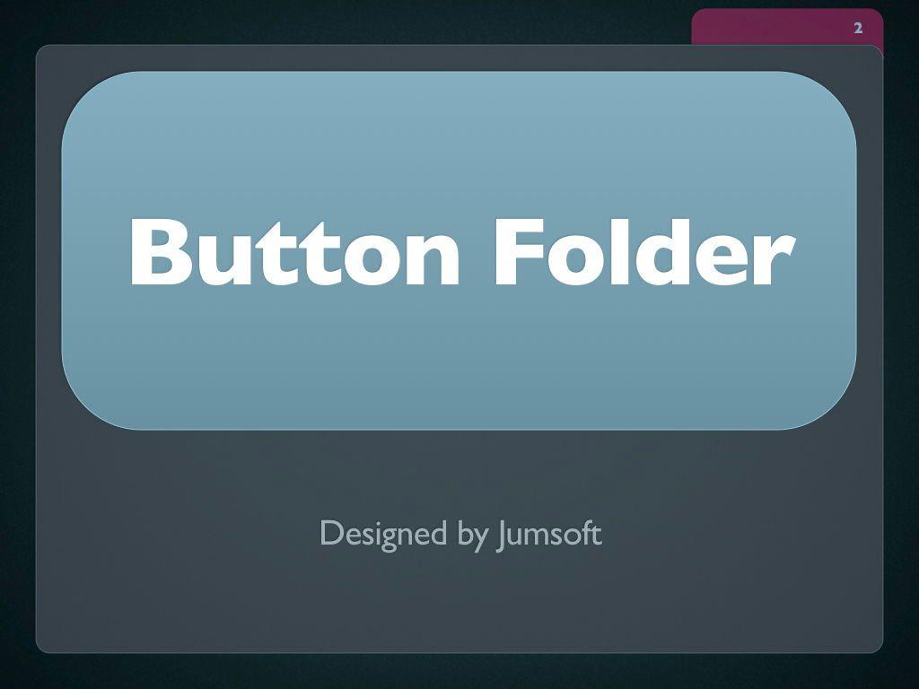 Button Folder Keynote Template, Slide 3, 06861, Presentation Templates — PoweredTemplate.com