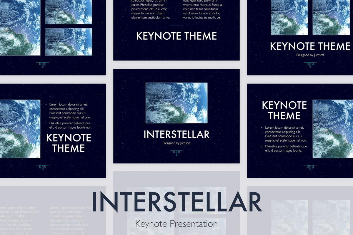 Interstellar Keynote Template, 06862, Presentation Templates — PoweredTemplate.com