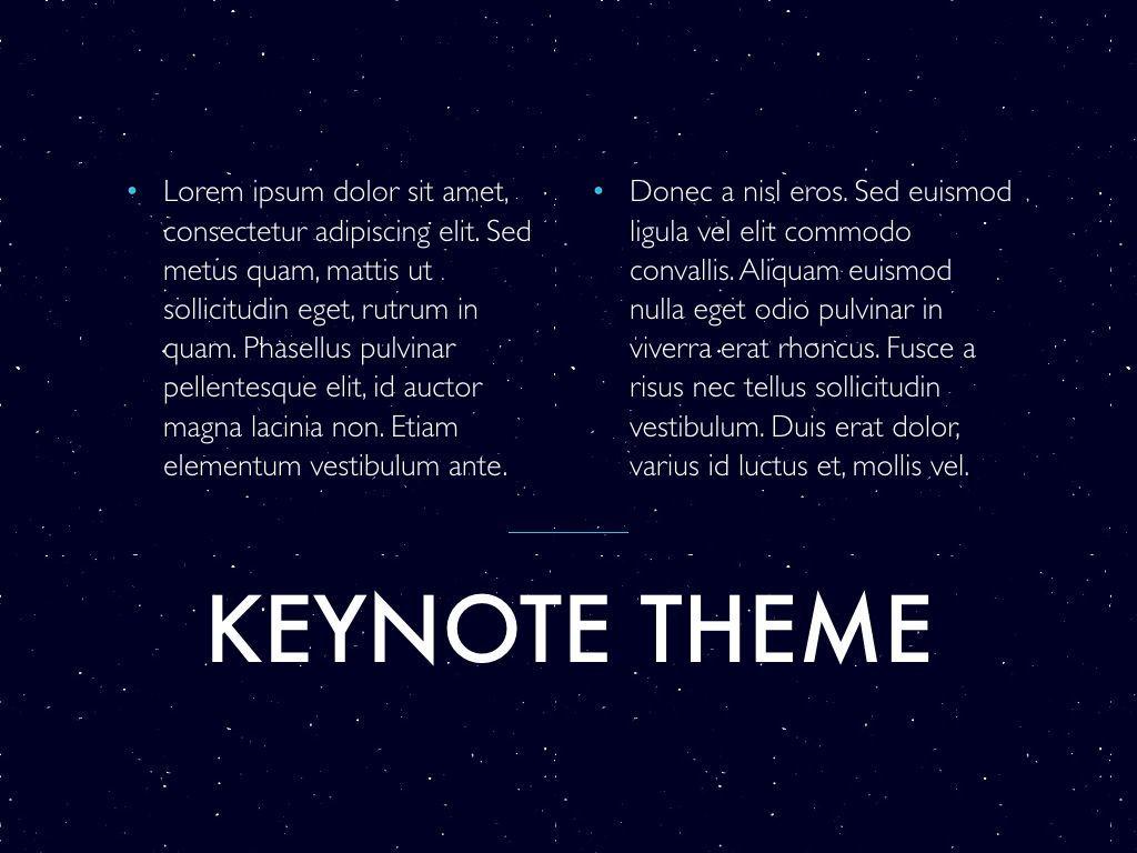 Interstellar Keynote Template, Slide 13, 06862, Presentation Templates — PoweredTemplate.com