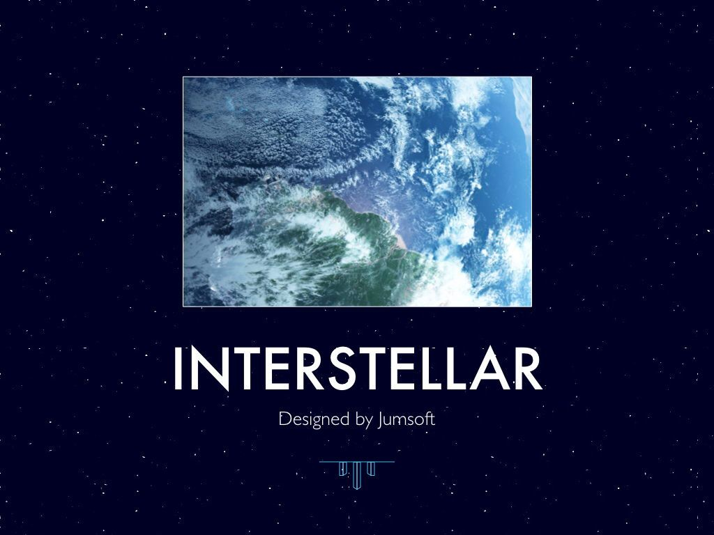 Interstellar Keynote Template, Slide 2, 06862, Presentation Templates — PoweredTemplate.com