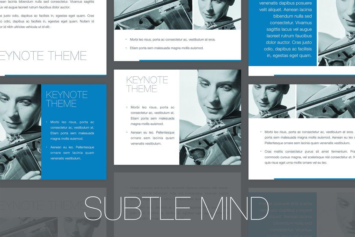 Subtle Mind Keynote Template, 06870, Presentation Templates — PoweredTemplate.com