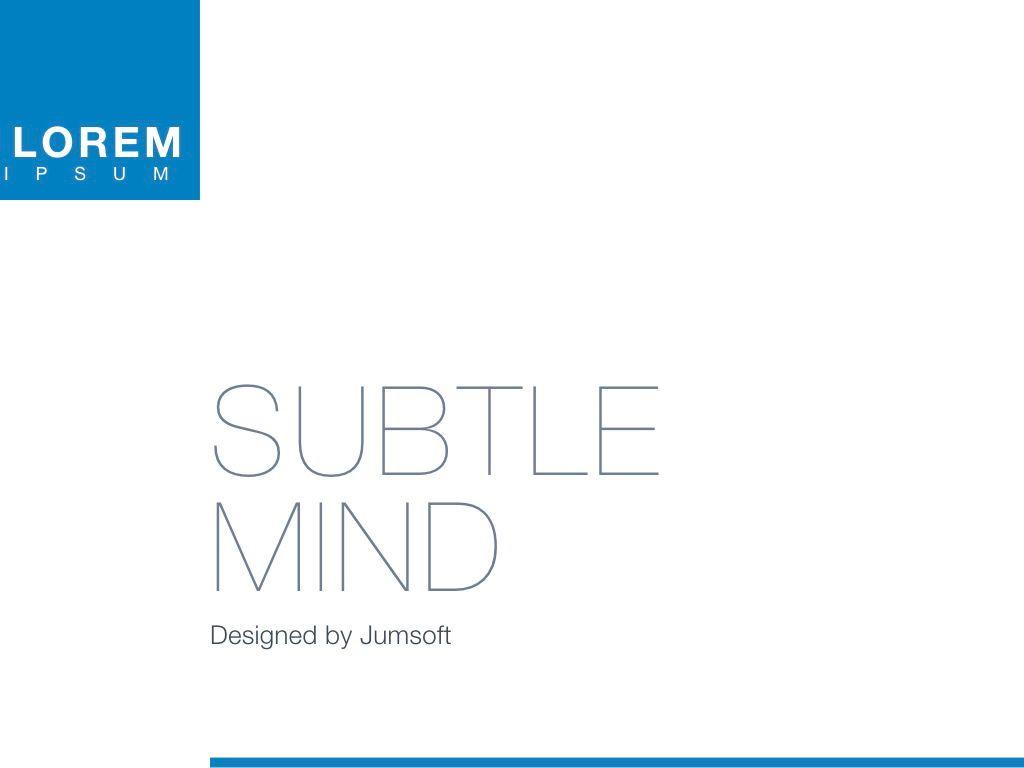 Subtle Mind Keynote Template, Slide 3, 06870, Presentation Templates — PoweredTemplate.com