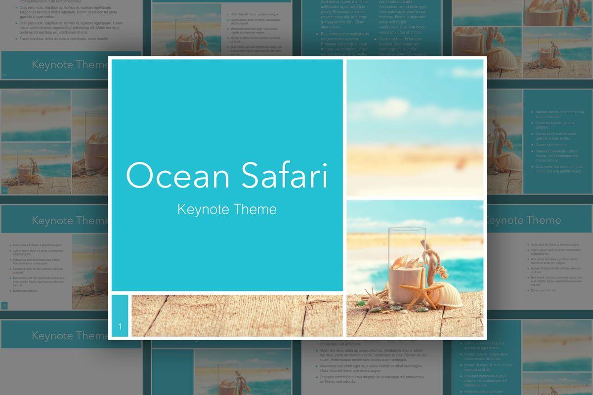 Ocean Safari Keynote Template, 06871, Presentation Templates — PoweredTemplate.com