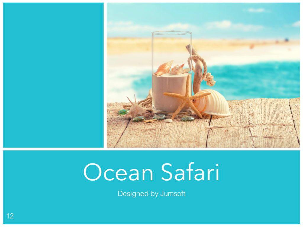 Ocean Safari Keynote Template, Slide 13, 06871, Presentation Templates — PoweredTemplate.com