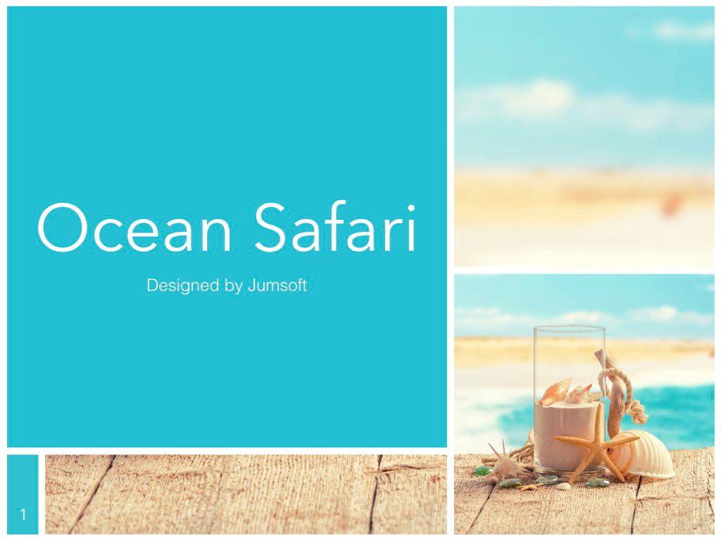 Ocean Safari Keynote Template, Slide 2, 06871, Presentation Templates — PoweredTemplate.com