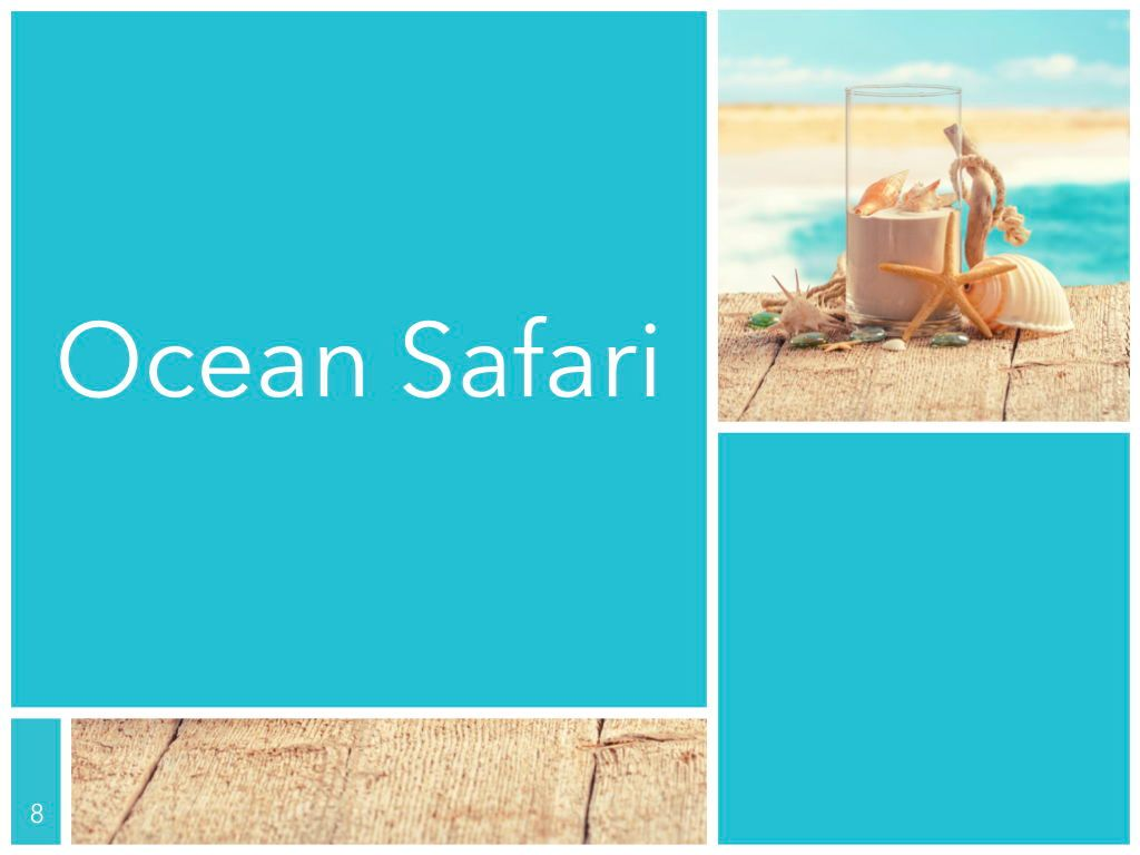 Ocean Safari Keynote Template, Slide 9, 06871, Presentation Templates — PoweredTemplate.com
