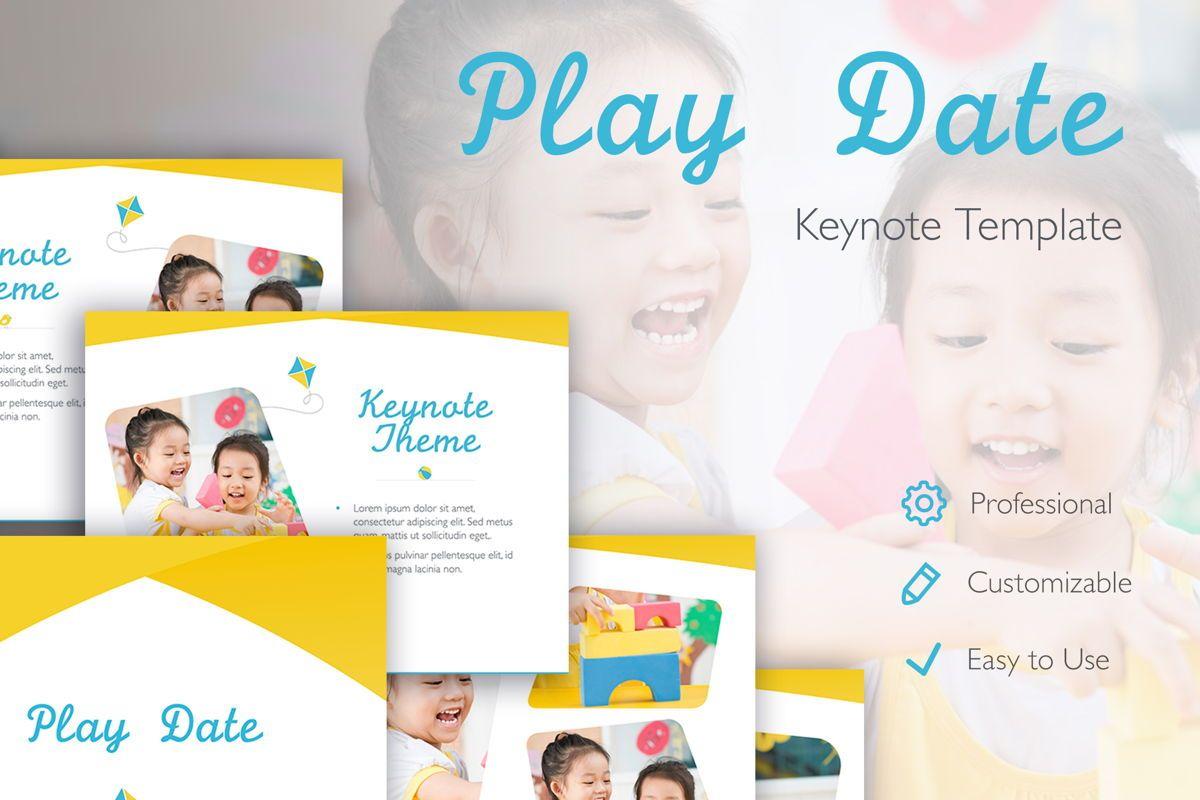 Play Date Keynote Template, 06872, Presentation Templates — PoweredTemplate.com