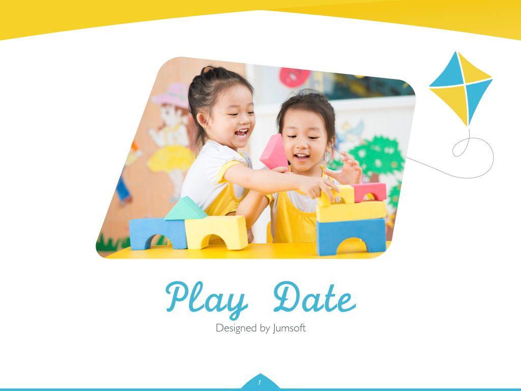 Play Date Keynote Template, Slide 2, 06872, Presentation Templates — PoweredTemplate.com