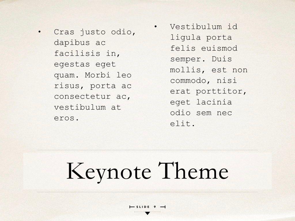 News Report Keynote Template, Slide 10, 06873, Presentation Templates — PoweredTemplate.com