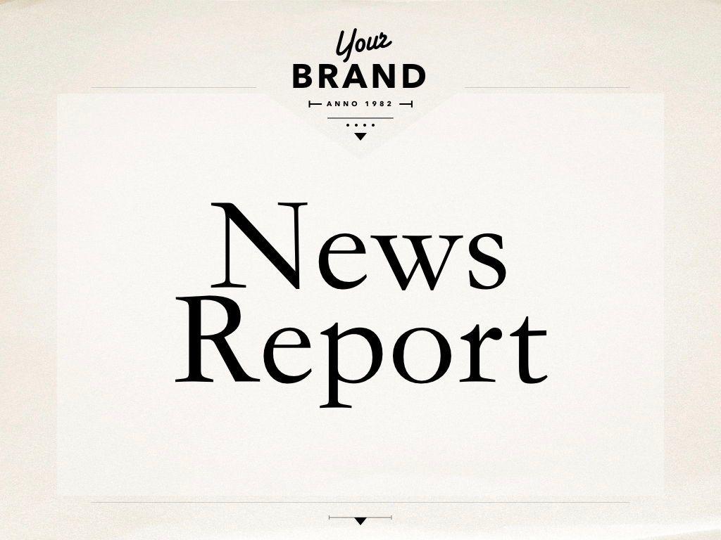 News Report Keynote Template, Slide 13, 06873, Presentation Templates — PoweredTemplate.com