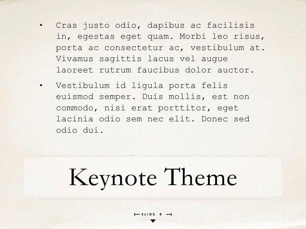 News Report Keynote Template, Slide 9, 06873, Presentation Templates — PoweredTemplate.com