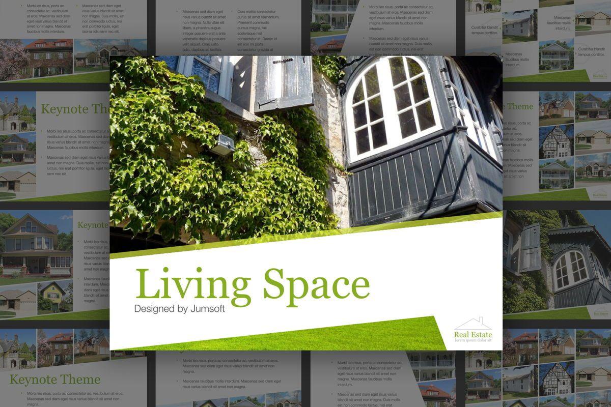 Living Space Keynote Template, 06874, Presentation Templates — PoweredTemplate.com