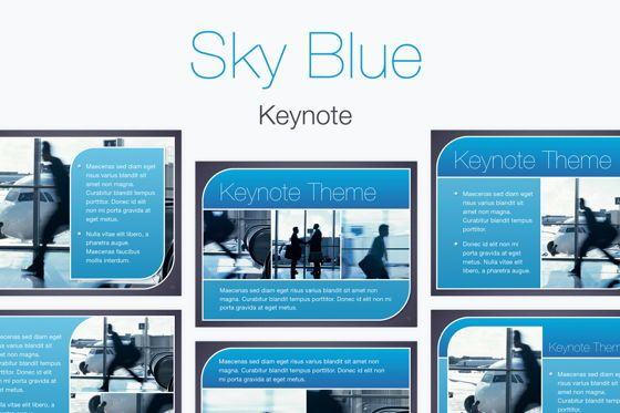 Presentation Templates: Sky Blue Keynote Template #06875