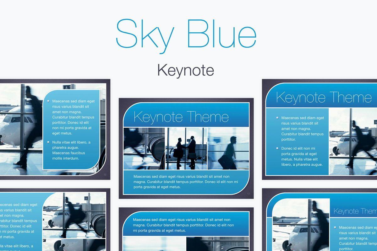 Sky Blue Keynote Template, 06875, Presentation Templates — PoweredTemplate.com