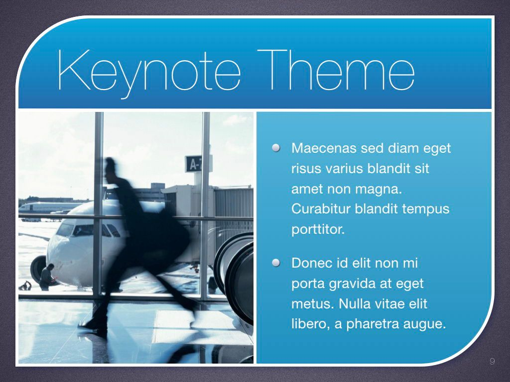 Sky Blue Keynote Template, Slide 10, 06875, Presentation Templates — PoweredTemplate.com