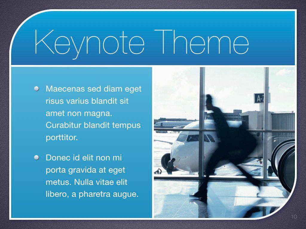 Sky Blue Keynote Template, Slide 11, 06875, Presentation Templates — PoweredTemplate.com