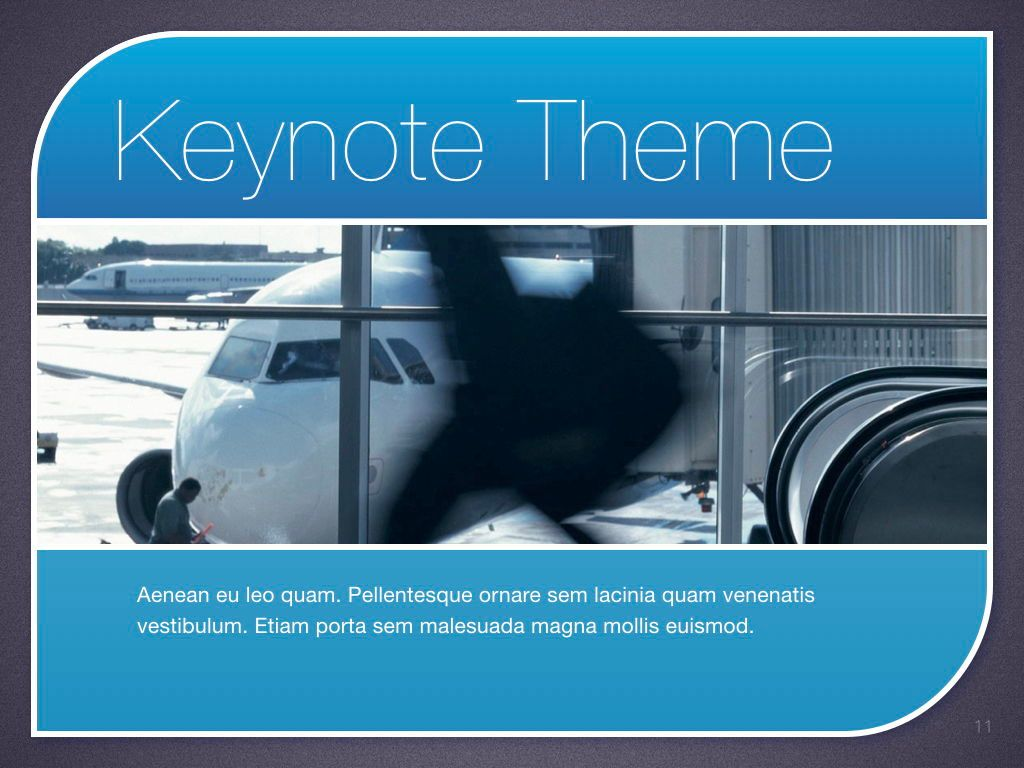 Sky Blue Keynote Template, Slide 12, 06875, Presentation Templates — PoweredTemplate.com