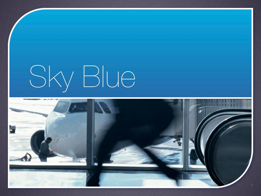 Sky Blue Keynote Template, Slide 2, 06875, Presentation Templates — PoweredTemplate.com