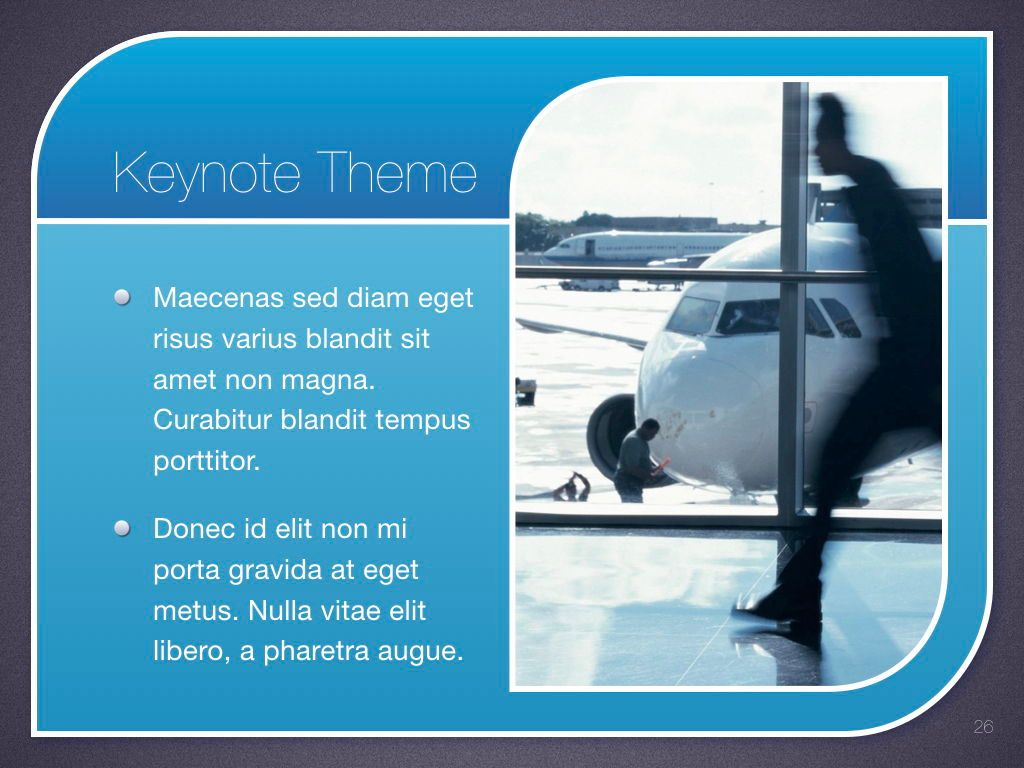 Sky Blue Keynote Template, Slide 27, 06875, Presentation Templates — PoweredTemplate.com