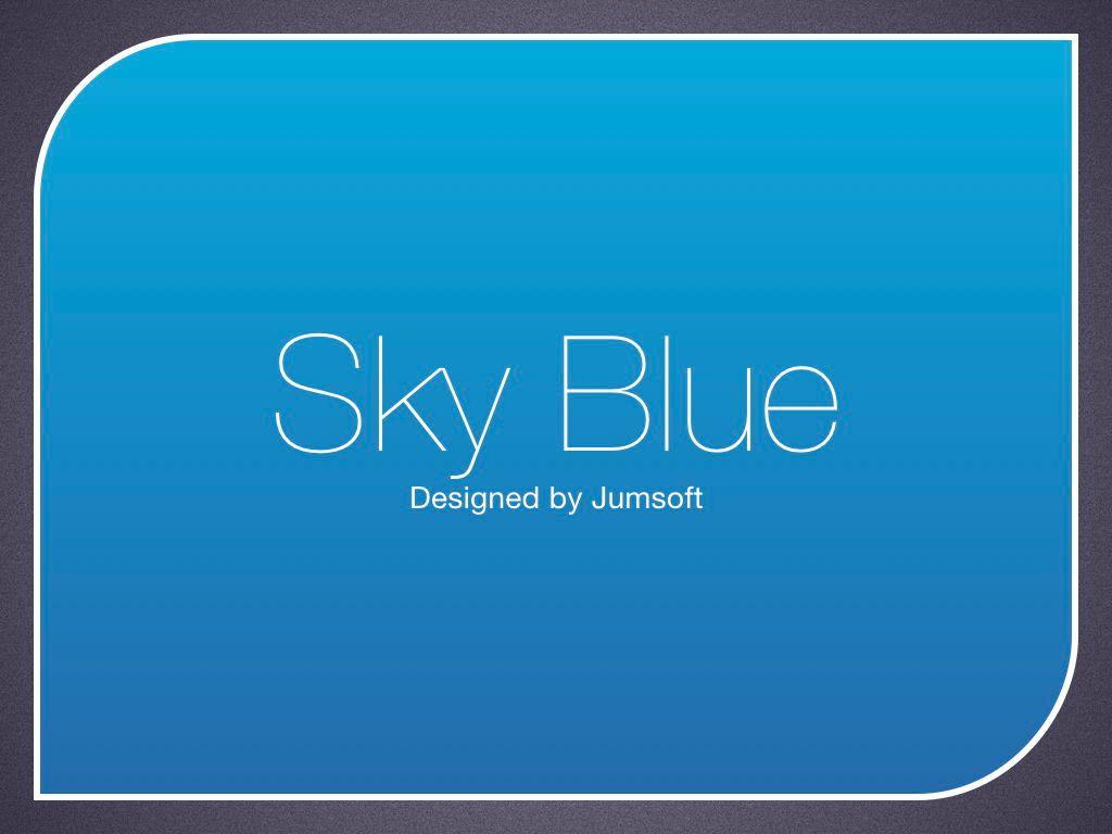 Sky Blue Keynote Template, Slide 3, 06875, Presentation Templates — PoweredTemplate.com