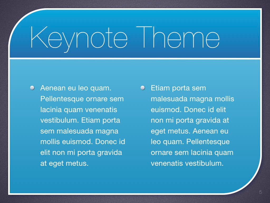 Sky Blue Keynote Template, Slide 6, 06875, Presentation Templates — PoweredTemplate.com