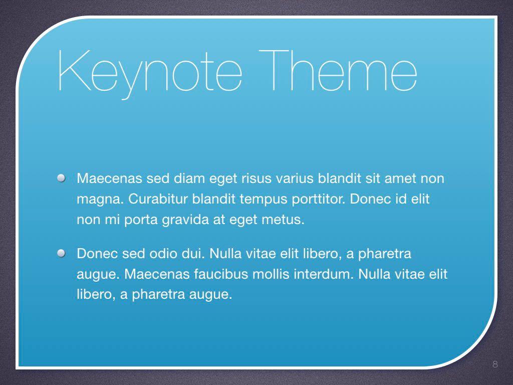 Sky Blue Keynote Template, Slide 9, 06875, Presentation Templates — PoweredTemplate.com