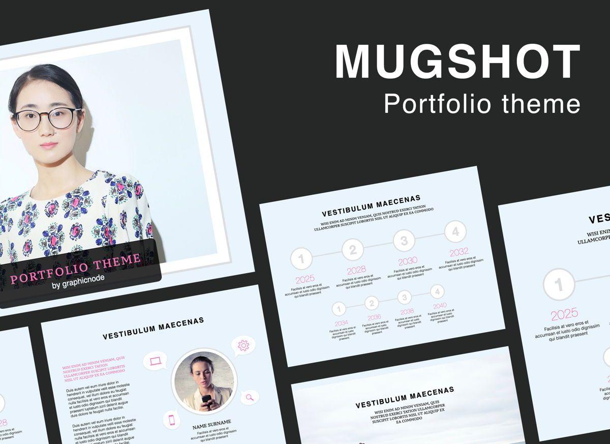 Mugshot Google Slides Presentation Template, 06880, Presentation Templates — PoweredTemplate.com