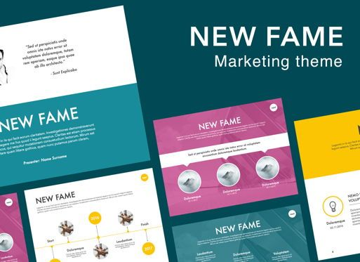 Presentation Templates: New Fame Google Slides Presentation Template #06881
