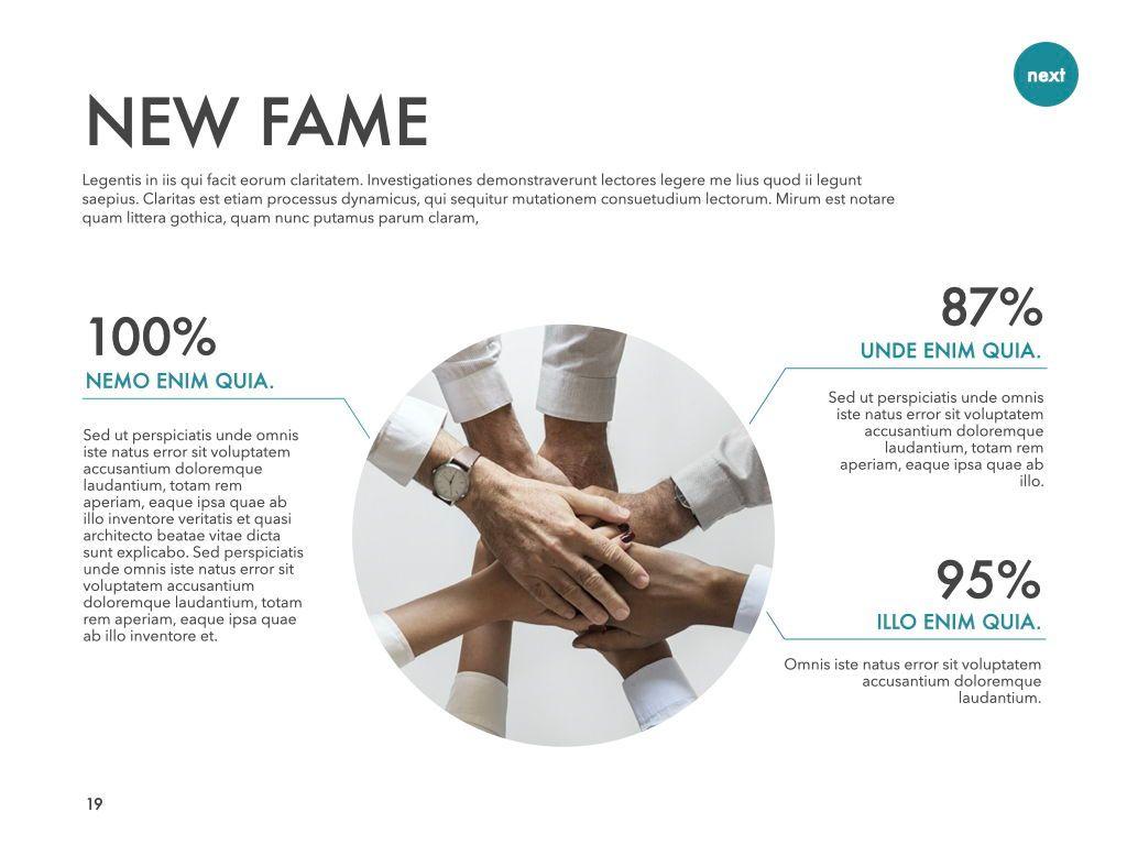New Fame Google Slides Presentation Template, Slide 13, 06881, Presentation Templates — PoweredTemplate.com