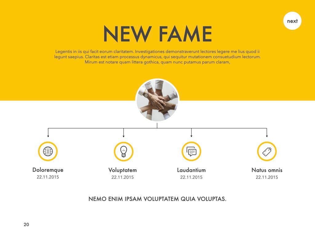 New Fame Google Slides Presentation Template, Slide 14, 06881, Presentation Templates — PoweredTemplate.com